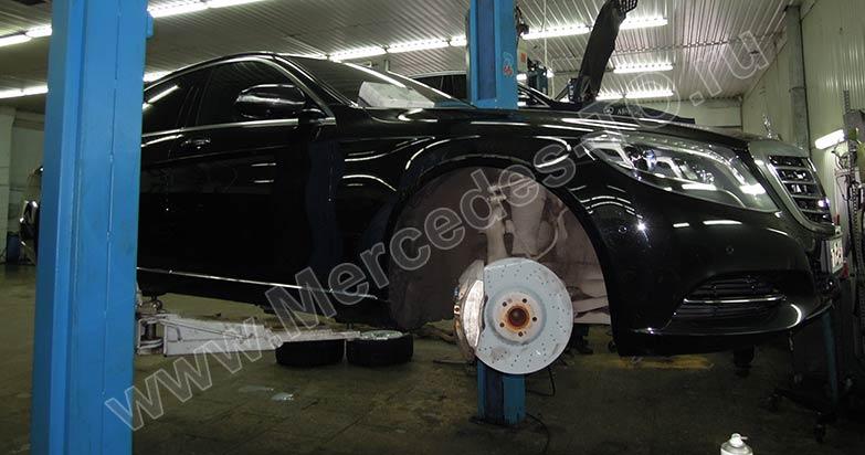 при каком износе(км) менять тормозные диски мерседес gl